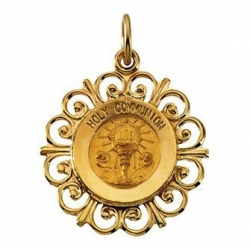 14K Gold First Hold Communion Medal