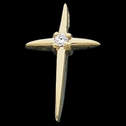 CROSS PENDANT W DIAMOND  s R16185D