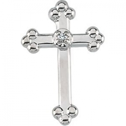 CROSS LAPEL PIN W DIAMOND