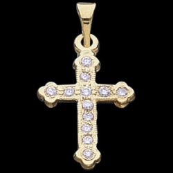 CROSS PENDANT W DIAMOND  s R41023
