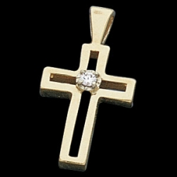 CROSS PENDANT W DIAMOND  s R41080