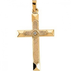 CROSS PENDANT W DIAMOND  s R16145