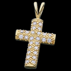 CROSS PENDANT W DIAMOND  s R41050D