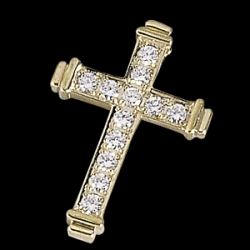 CROSS PENDANT W DIAMOND  s R80076D