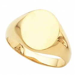 GENTS SOLID OVAL SIGNET RING W  s 9320
