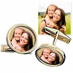 Photo Engraved Cuff Links