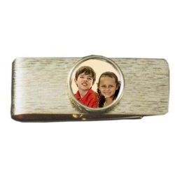 14k Yellow Photo Engraved Gold Money Clip