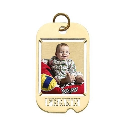 Dog Tag W  Name Cut Photo Pendant Picture Charm