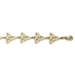 14k Yellow Gold Claddagh Bracelet