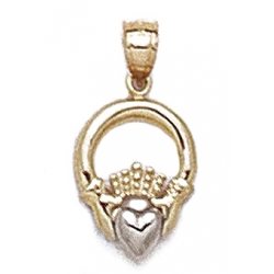 14K Yellow Gold Claddagh Charm or Pendant