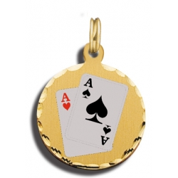Pocket Aces Charm