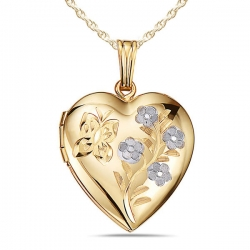 Solid14K Yellow Gold Heart Locket