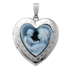 14K Gold Mother   Child Cameo