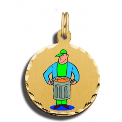 Garbage Man Charm