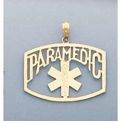 14K YELLOW GOLD PARAMEDIC CHARM