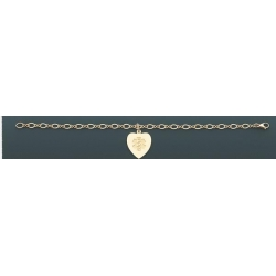 14K YELLOW GOLD HEART MEDICAL ID BRACELET