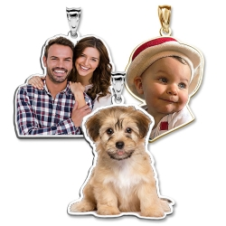 Photo Outline Pendant or Charm