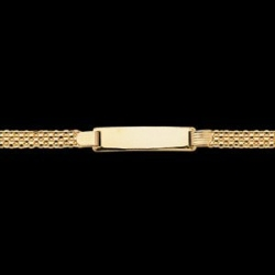 14K Yellow Gold 6  Rectangle I D Bismark Bracelet