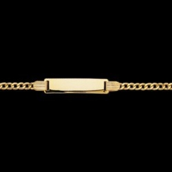 14K Yellow Gold 6 Rectangle ID Cuban Bracelet