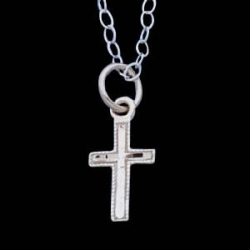 14K Yellow Gold Children s cross Pendant W Chain