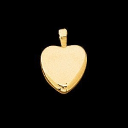 14K Yellow Gold Children s Heart Locket