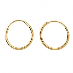 14K Yellow Gold Children s Endless Hoop Earring