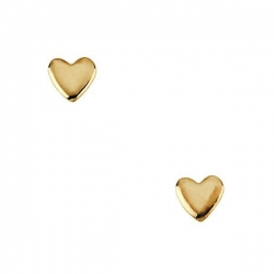14K Yellow Gold Children s Heart Earring