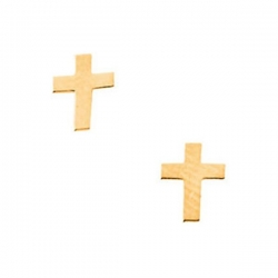 14K Yellow Gold Children s Cross Earring