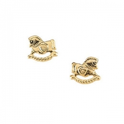 14K Yellow Gold Children s Rocking Horse Earring