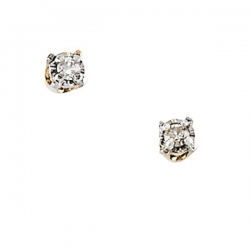 14K Yellow Gold Children s Diamond Earring