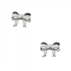 14K Yellow Gold Children s Bow Earring