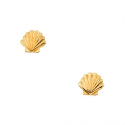 14K Yellow Gold Children s Shell Earring