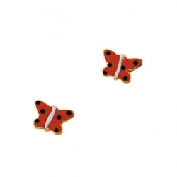 14K Yellow Gold Children s Butterfly Enamel Earring