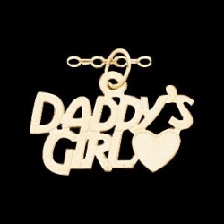 14K Yellow Gold Children s  Daddy s Girl  Pendant