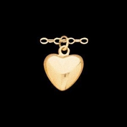 14K Yellow Gold Children s Puffed Heart Pendant