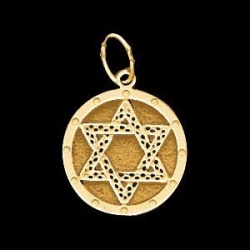 14K Yellow Gold Children s Star Of David Pendant