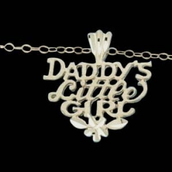 14K Yellow Gold Child Dad Little Girl W Chain