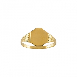 14K Yellow Gold Children s Signet Filigree Ring