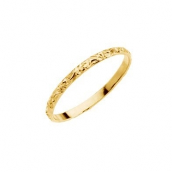 14K Yellow Gold Children s ETCHED Ring