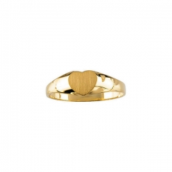 14K Yellow Gold Children s Heart Signet Ring