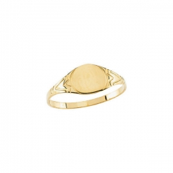 14K Yellow Gold Children s Round Signet Ring