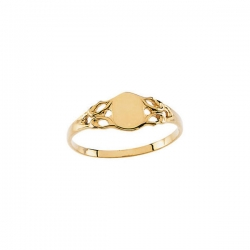 14K Yellow Gold Children s Signet Ring