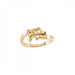 14K Yellow Gold Children  Jesus Ring