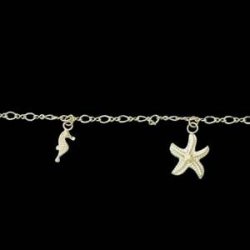 14K Yellow Gold Teen Seashore Bracelet