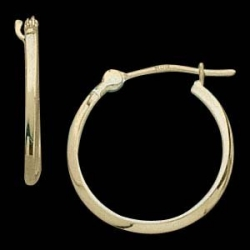 14K Yellow Gold Teen Hoop Earring