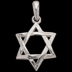 Sterling Silver Teen Large Domed Star Of David Pendant