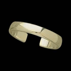 14K Yellow Gold Teen Plain Ring