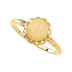 14K Gold Women s Oval Signet Ring