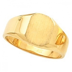 14K Gold Ladies Octagon Signet Ring