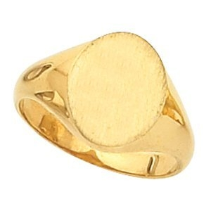 14k Gold Women S Oval Signet Ring 588pg64601